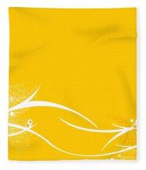 Yellow Twigs Fleece Blanket