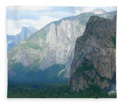 Yosemite Bridalveil Fall Fleece Blanket