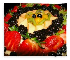 Yummy Fruit Dessert Fleece Blanket