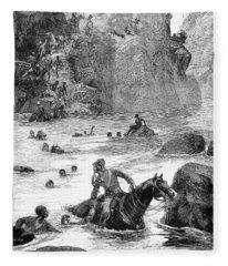 Zulu War: Retreat, 1879 Fleece Blanket
