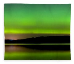 Aurora Over The Beauly Firth Fleece Blanket