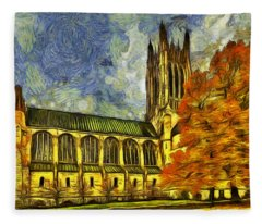 Cathedral Of St. John The Evangelist Fleece Blanket