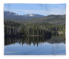 Chambers Lake Hwy 14 Co Fleece Blanket