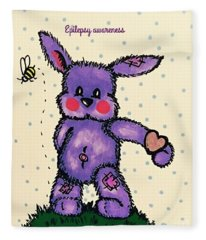 Epilepsy Awareness Bunny Fleece Blanket