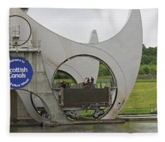 Falkirk Wheel Fleece Blanket