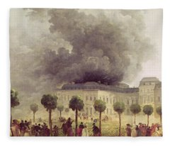 Fire At The Opera House Of The Palais Royal Fleece Blanket