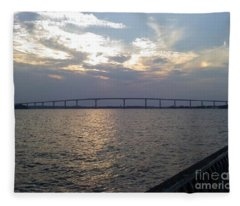 Gov Thomas Johnson Bridge Fleece Blanket