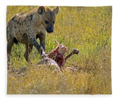 Hyena With Kill Fleece Blanket