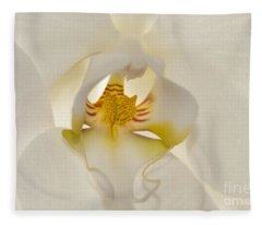 In The Heart Of The Orchid Fleece Blanket