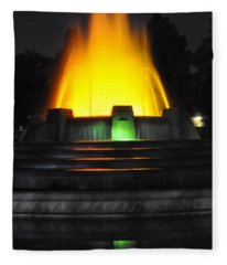 Mulholland Fountain Reflection Fleece Blanket
