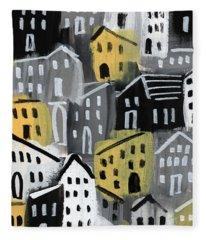 Rainy Day - Expressionist Art Fleece Blanket