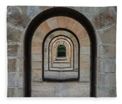 Receding Arches Fleece Blanket
