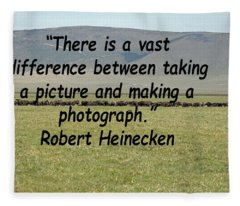Robert Heinecken Quote Fleece Blanket