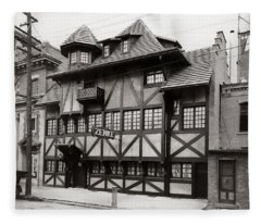 Scranton Pa Zenke's Alt Heidelberg Restaurant Early 1900s Fleece Blanket