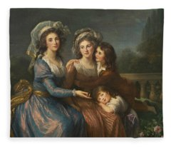 The Marquise De Pezay, And The Marquise De Rouge With Her Sons Fleece Blanket