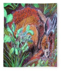 032917louisiana Swamp Rabbit Fleece Blanket