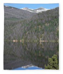 Chambers Lake Reflection Hwy 14 Co Fleece Blanket
