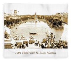 1904 World's Fair, Grand Basin View From Festival Hall Fleece Blanket