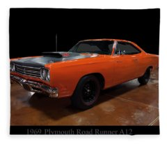 1969 Plymouth Road Runner A12 Fleece Blanket