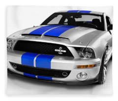 2008 Shelby Ford Gt500kr Fleece Blanket