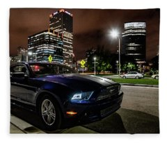 2014 Ford Mustang Fleece Blanket