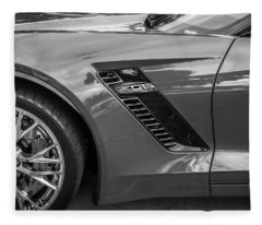 2015 Chevrolet Corvette Z06 Painted  Fleece Blanket