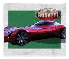 2025 Bugatti Aerolithe Concept With 3 D Badge  Fleece Blanket
