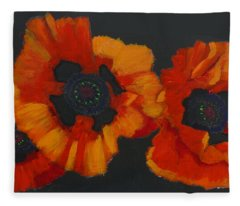 3 Poppies Fleece Blanket