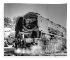 46233 Duchess Of Sutherland At Swanwick Fleece Blanket