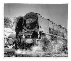 46233 Duchess Of Sutherland At Swanwick Fleece Blanket
