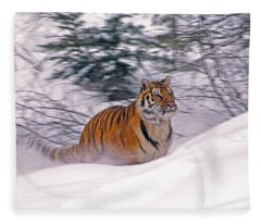 A Blur Of Tiger Fleece Blanket