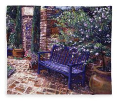 A Shady Resting Place Fleece Blanket