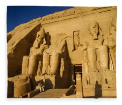 Abu Simbel Fleece Blanket