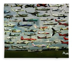Airventure Cup Air Race, 2017 - Panorama Fleece Blanket