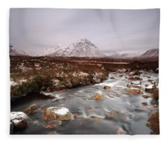 Allt Nan Giubhas And The Peak Of Stob Dearg Fleece Blanket
