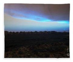 Alternate Sunset Blue Fleece Blanket