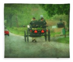 Amish Ladies Of Lancaster County Fleece Blanket