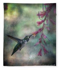 Anna's Hummingbird Fleece Blanket