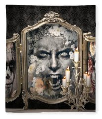 Antique Vampire Paintings Fleece Blanket