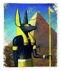 Anubis, God Of Egypt Fleece Blanket