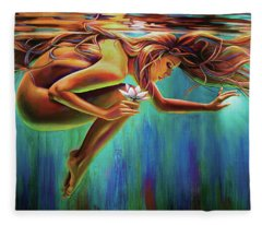 Aquarian Rebirth Fleece Blanket
