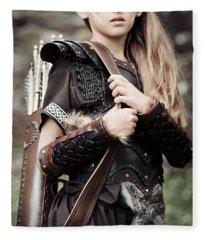 Archer Girl Fleece Blanket