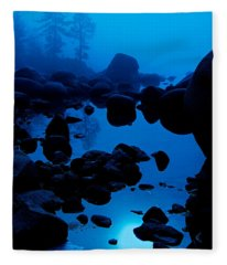 Arise From The Fog Fleece Blanket