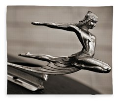 Art Deco Hood Ornament Fleece Blanket