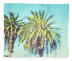 Art Deco Palms Fleece Blanket