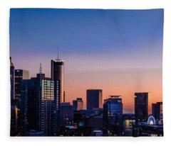 Atlanta Sunset Fleece Blanket