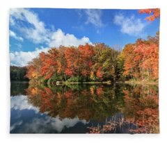 Autumn At Boley Lake Fleece Blanket