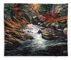 Autumn Brook Fleece Blanket