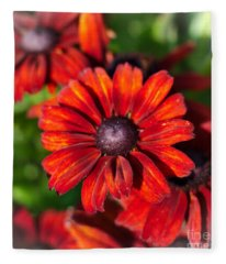 Autumn Flowers Fleece Blanket