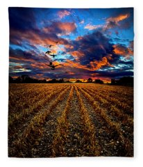 Autumn Rising Fleece Blanket